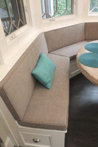 Custom Brown Circular Bench
