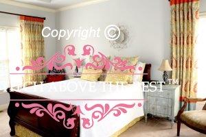 Three Tone Traversing Drapery Panel in Bedroom