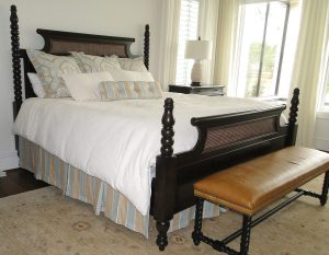 Custom King Bedding in Neutral Tones
