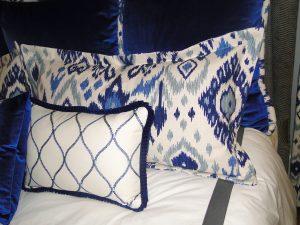 Custom Blue Velvet Master Bedroom