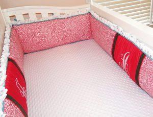 Custom Embroidered Crib Bumper