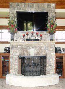 Fireplace cushion