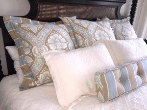 Custom King Bedding in Neutral Tones