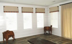 Pleat Valances with Accent Band