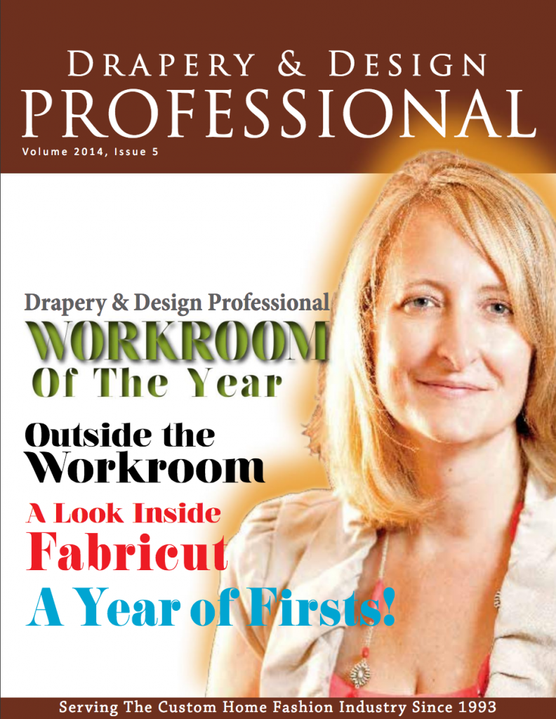 Drapery & Design Professional Magazine - Stitch Above the Rest